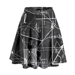 School Board  High Waist Skirt by Valentinaart