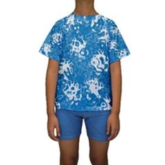 Pattern Kids  Short Sleeve Swimwear by Valentinaart