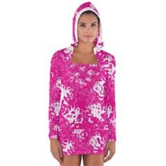 Pattern Women s Long Sleeve Hooded T Shirt by Valentinaart