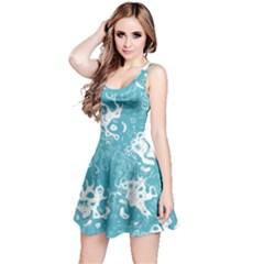 Pattern Reversible Sleeveless Dress by Valentinaart