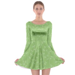 Pattern Long Sleeve Skater Dress by Valentinaart