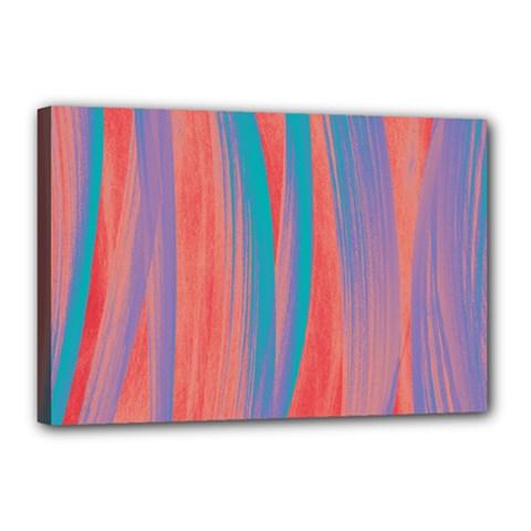 Pattern Canvas 18  X 12  by Valentinaart