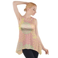 Floral Pattern Side Drop Tank Tunic by Valentinaart