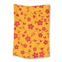 Floral Pattern Small Tapestry by Valentinaart