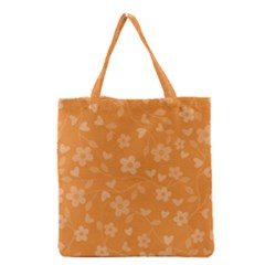 Floral Pattern Grocery Tote Bag by Valentinaart