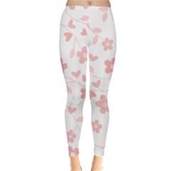 Floral pattern Leggings  by Valentinaart