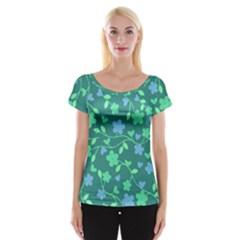 Floral pattern Women s Cap Sleeve Top by Valentinaart