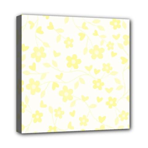 Floral Pattern Mini Canvas 8  X 8  by Valentinaart