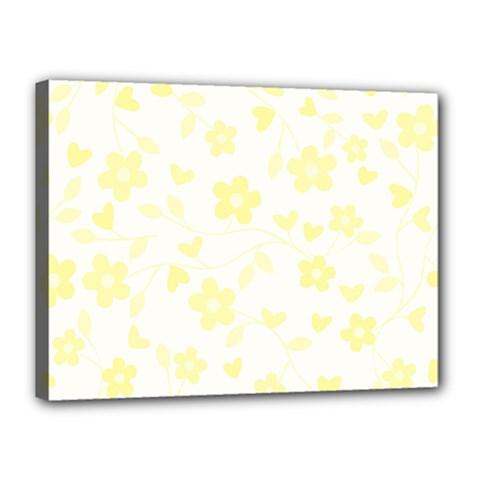 Floral Pattern Canvas 16  X 12  by Valentinaart