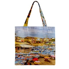 Engabao Beach At Guayas District Ecuador Zipper Grocery Tote Bag by dflcprints