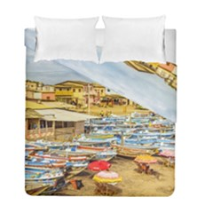 Engabao Beach At Guayas District Ecuador Duvet Cover Double Side (full/ Double Size) by dflcprints