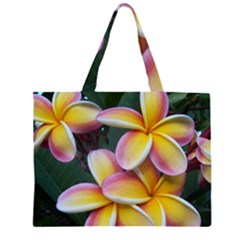 Premier Mix Flower Zipper Large Tote Bag by alohaA
