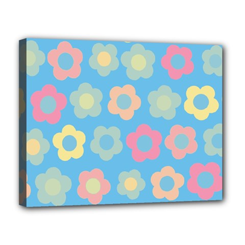 Floral Pattern Canvas 14  X 11  by Valentinaart