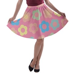Floral Pattern A Line Skater Skirt by Valentinaart