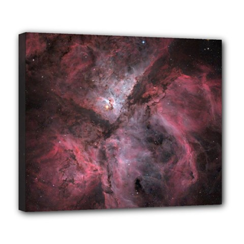 Carina Peach 4553 Deluxe Canvas 24  X 20   by SpaceShop