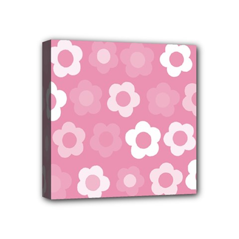 Floral Pattern Mini Canvas 4  X 4  by Valentinaart