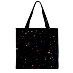 Extreme Deep Field Zipper Grocery Tote Bag by SpaceShop