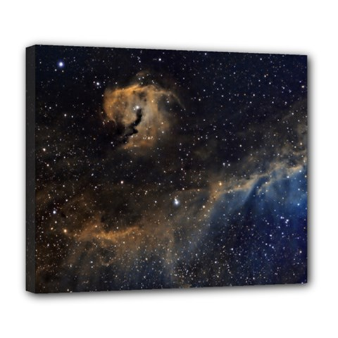 Seagull Nebula Deluxe Canvas 24  X 20   by SpaceShop