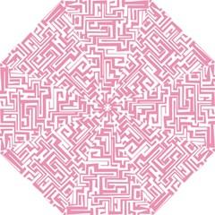 Pink Pattern Golf Umbrellas by Valentinaart