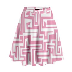 Pink Pattern High Waist Skirt by Valentinaart