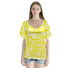 Pattern Flutter Sleeve Top by Valentinaart