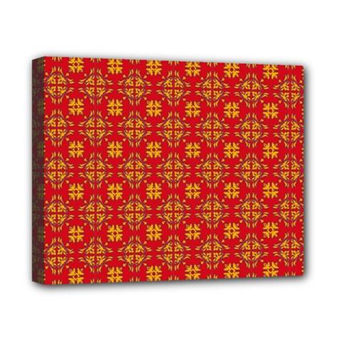 Pattern Canvas 10  X 8  by Valentinaart