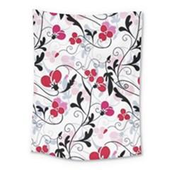 Floral Pattern Medium Tapestry by Valentinaart
