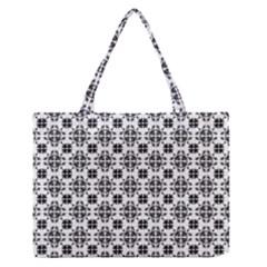 Pattern Medium Zipper Tote Bag by Valentinaart