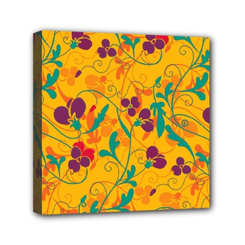 Floral Pattern Mini Canvas 6  X 6  by Valentinaart