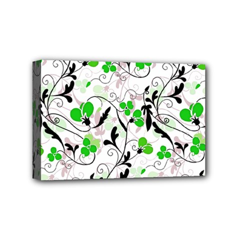 Floral Pattern Mini Canvas 6  X 4  by Valentinaart