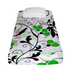 Floral Pattern Fitted Sheet (single Size) by Valentinaart