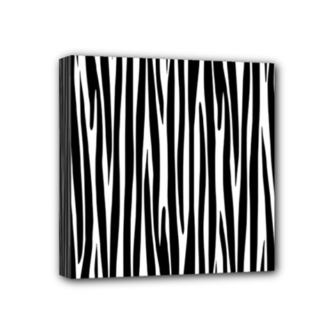 Zebra Pattern Mini Canvas 4  X 4  by Valentinaart