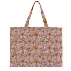 Nature Collage Print Zipper Large Tote Bag by dflcprints