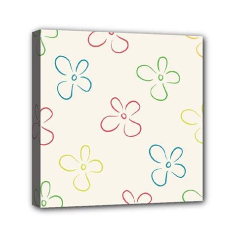 Flower Background Nature Floral Mini Canvas 6  X 6  by Simbadda