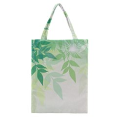 Spring Leaves Nature Light Classic Tote Bag by Simbadda