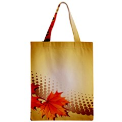 Background Leaves Dry Leaf Nature Zipper Classic Tote Bag by Simbadda