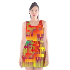 Binary Binary Code Binary System Scoop Neck Skater Dress by Simbadda