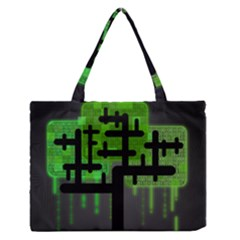 Binary Binary Code Binary System Medium Zipper Tote Bag by Simbadda