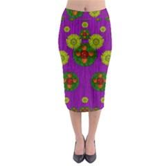 Buddha Blessings Fantasy Midi Pencil Skirt by pepitasart