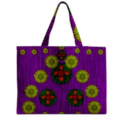 Buddha Blessings Fantasy Medium Zipper Tote Bag by pepitasart