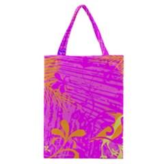 Spring Tropical Floral Palm Bird Classic Tote Bag by Simbadda