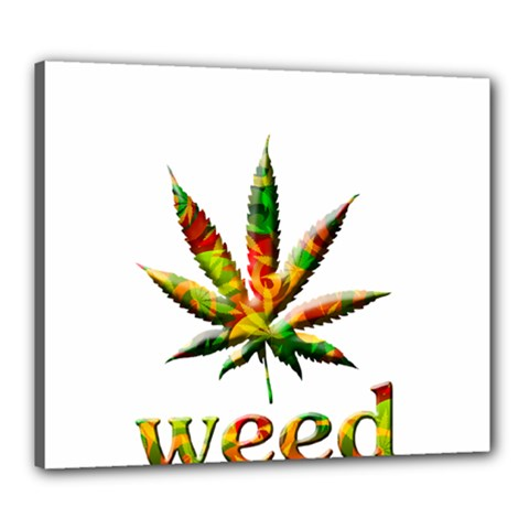 Marijuana Leaf Bright Graphic Canvas 24  X 20  by Simbadda