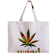 Marijuana Leaf Bright Graphic Medium Tote Bag by Simbadda