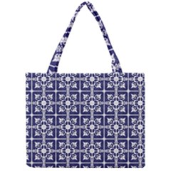 Leaves Horizontal Grey Urban Mini Tote Bag by Simbadda