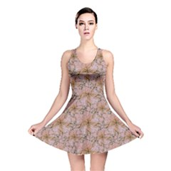 Nature Collage Print Reversible Skater Dress by dflcprintsclothing
