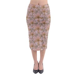 Nature Collage Print Midi Pencil Skirt by dflcprintsclothing