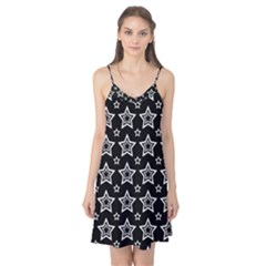 Star Black White Line Space Camis Nightgown by Alisyart