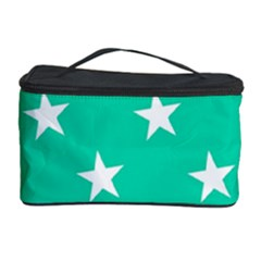 Star Pattern Paper Green Cosmetic Storage Case by Alisyart