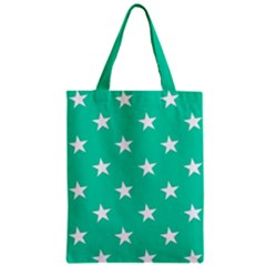 Star Pattern Paper Green Zipper Classic Tote Bag by Alisyart