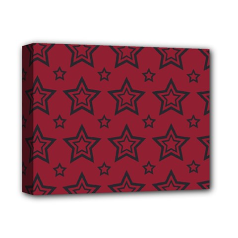 Star Red Black Line Space Deluxe Canvas 14  x 11
